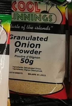 Cool Runnings Granulated Onion Powder 50g ea