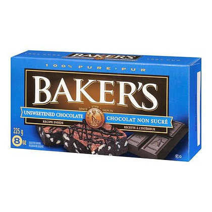 Baker's Unsweetened Chcolate Cookies 225g