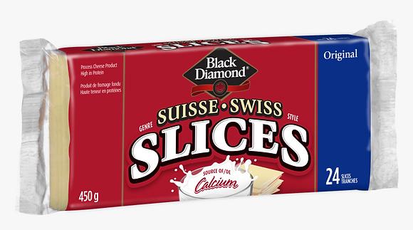 Black Diamond Swiss Cheese Slices 450g