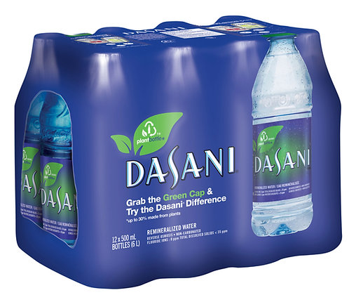 Dasani Remineralized Water 12X500ml