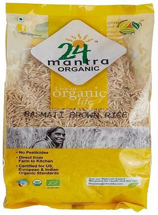 24 Mantra Organic Indian Brown Basmati Rice (1 kg)