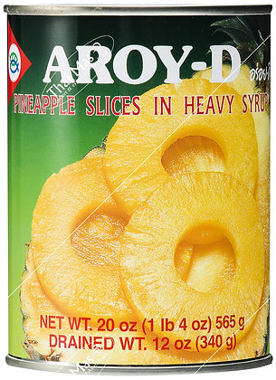 Aroy D Pineapple Sliced In Syrup 565g