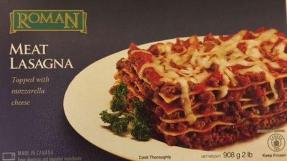 Roman Cheese Roman Meat Lasagna Topped with Mozzarella Cheese