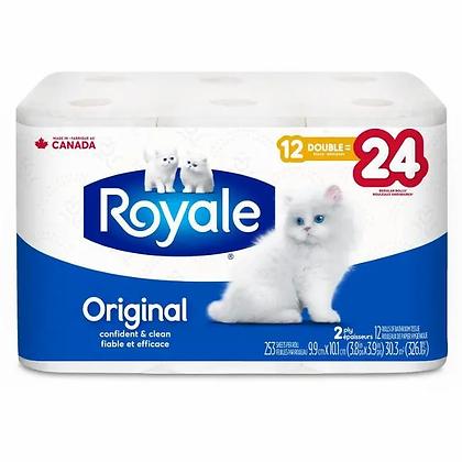 Royale Original, Soft Toilet Paper, 12 Double equal 24 rolls