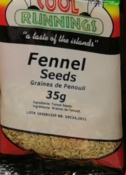 Cool Runnings Fennel Seeds 35g