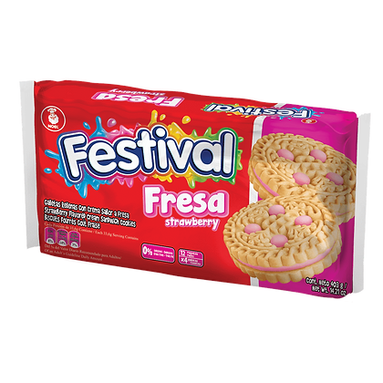 Festival Fresa Strawberry Fraise 403g