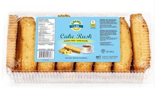 CRISPY CAKE RUSK - SUGAR FREE 650g