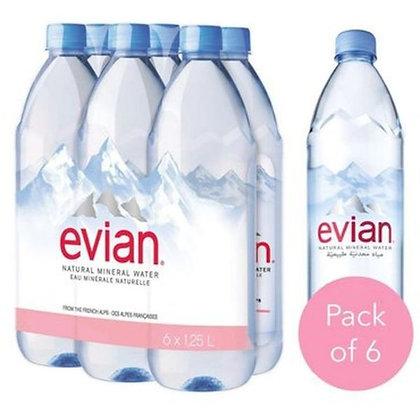 Evian Natural Spring Water 1L*6