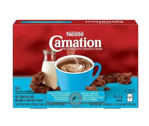 Carnation hot chocolate light - 13g*10