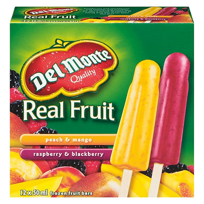Del Monte Real Fruit Ice Bars Strawberry & 600ml