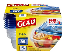 Glad soup&salad container - 5pc