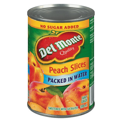 Del Monte Peach Slices Packed In Water 398ml