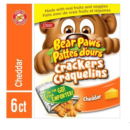 Bear Paws Cheddar Crackers on The Go Packs