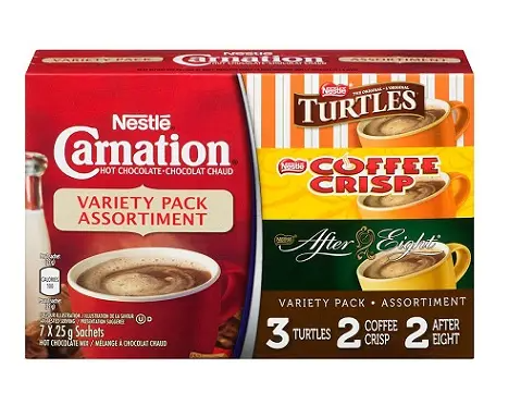 Carnation hot chocolate variety pack - 25g*7