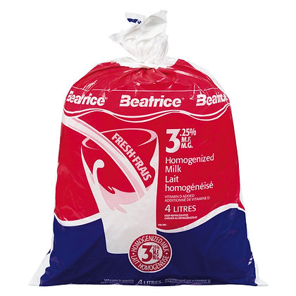 Beatrice 3.25% Homogenized Milk - 4L