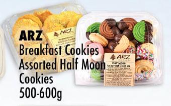 ARZ Breakfast Cookies Assorted Half Moon Cookies 500-600g