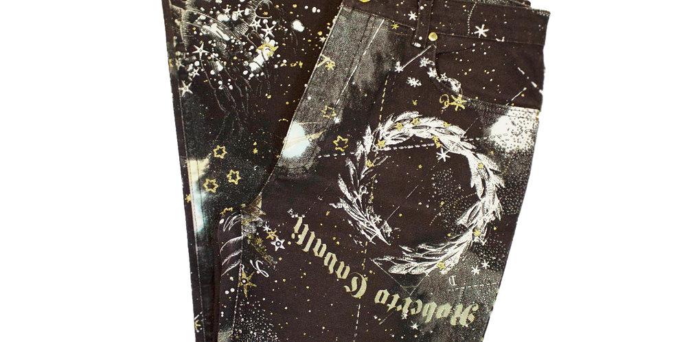 Roberto Cavalli Astrology Print Jeans