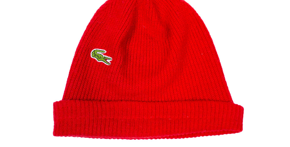 Lacoste Red Beanie