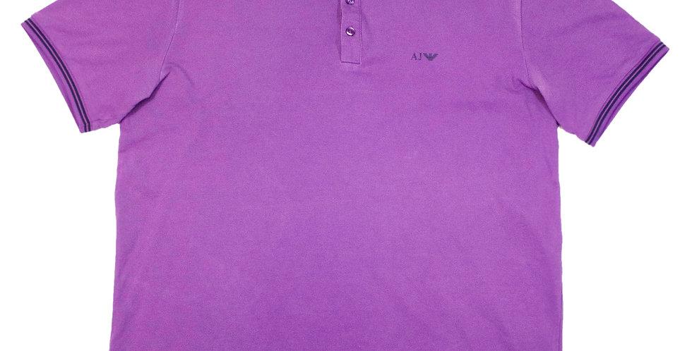Armani Jeans Purple Polo Shirt