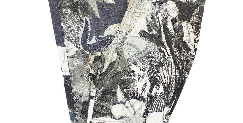 Roberto Cavalli Nature Print Jeans
