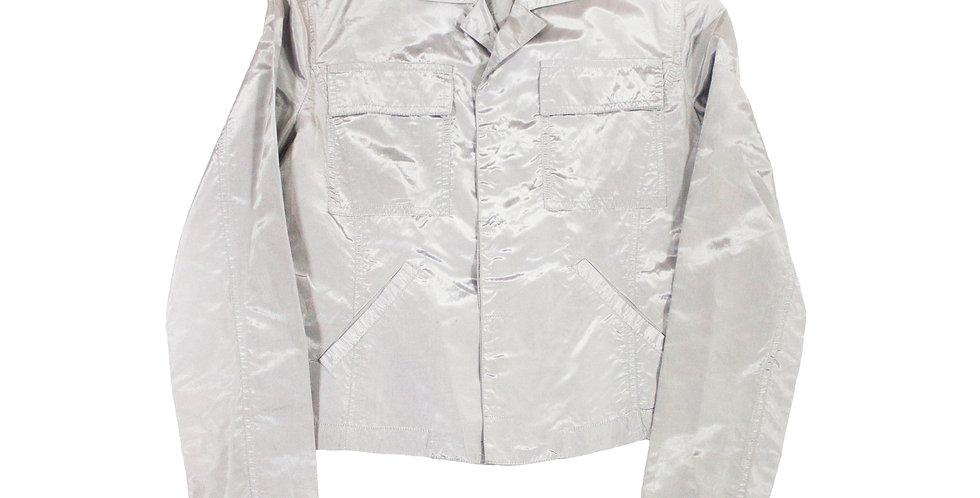 Versace Metalic Silver Lightweight Jacket