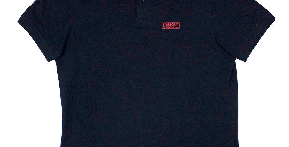 Barbour Navy Polo Shirt