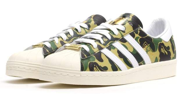 Adidas Superstar Bape ABC Camo Green