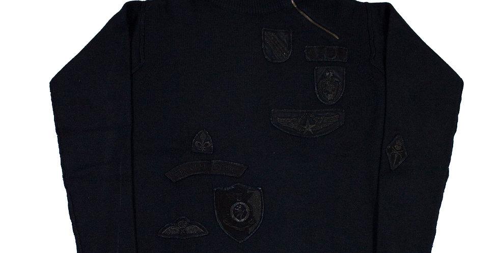 Versace 1/4 Zip Patch Jumper