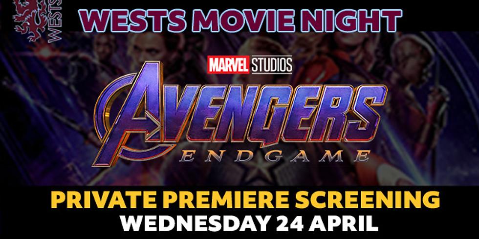 Wests Movie Night - AVENGERS: Endgame