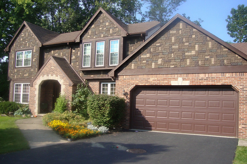 NextStone Insulated Faux Stone Siding Castle Rock Tuscan Brown