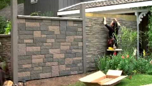 ToolGirl Garden Rock Wall Installation