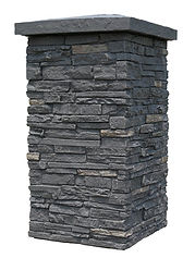 Easy install faux stone columns
