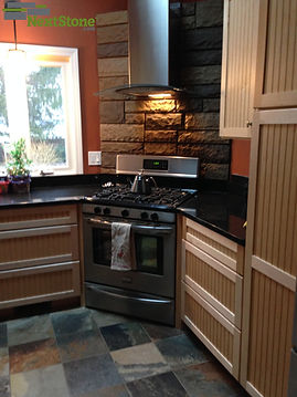 New England Mocha Kitchen Backsplash