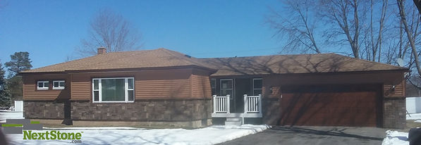 NextStone Castle Rock Tuscan Brown Faux Stone Siding Panels