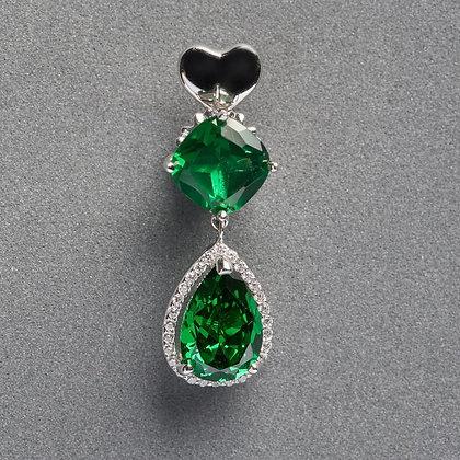 Серьги 'Fancy Emerald'