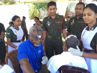 hearing of over 3,000 with Sri Lanka Army + Synegen + Vision Care