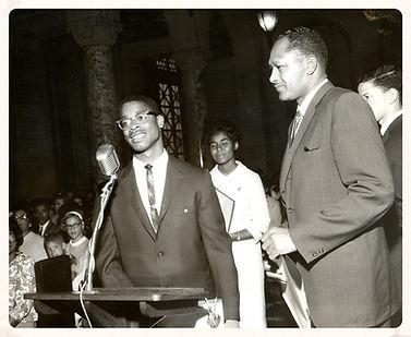 Philip Henderson with Councilman Tom Bradley in 1965