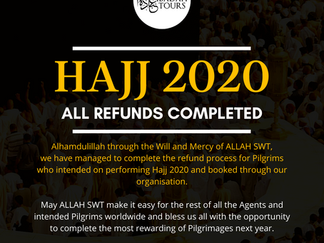 HAJJ 2020 Refunds