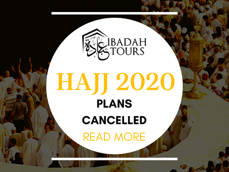 HAJJ 2020 CANCELLATION