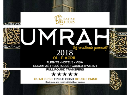 APRIL HOLIDAYS UMRAH TOUR