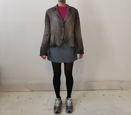 Hand Painted Knitted Blazer