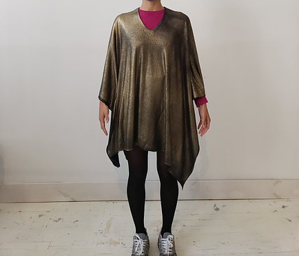 Hand Painted Cashmere Poncho
