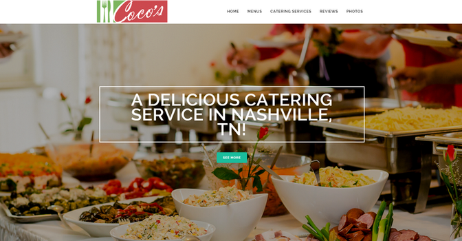 Coco's Catering Landing Page