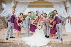 Bridal Party at the Lake