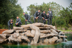Groomsmen at Lake