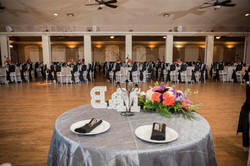 The Lodge Reception Hall with Silver
