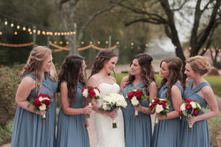 Bride Squad by lake