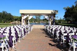 Lakeside Ceremony with Purple