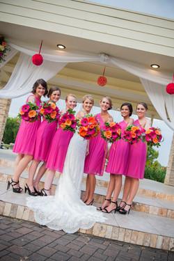 Bridesmaids at Lake