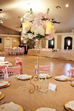 The Lodge in Pink and Gold decor
